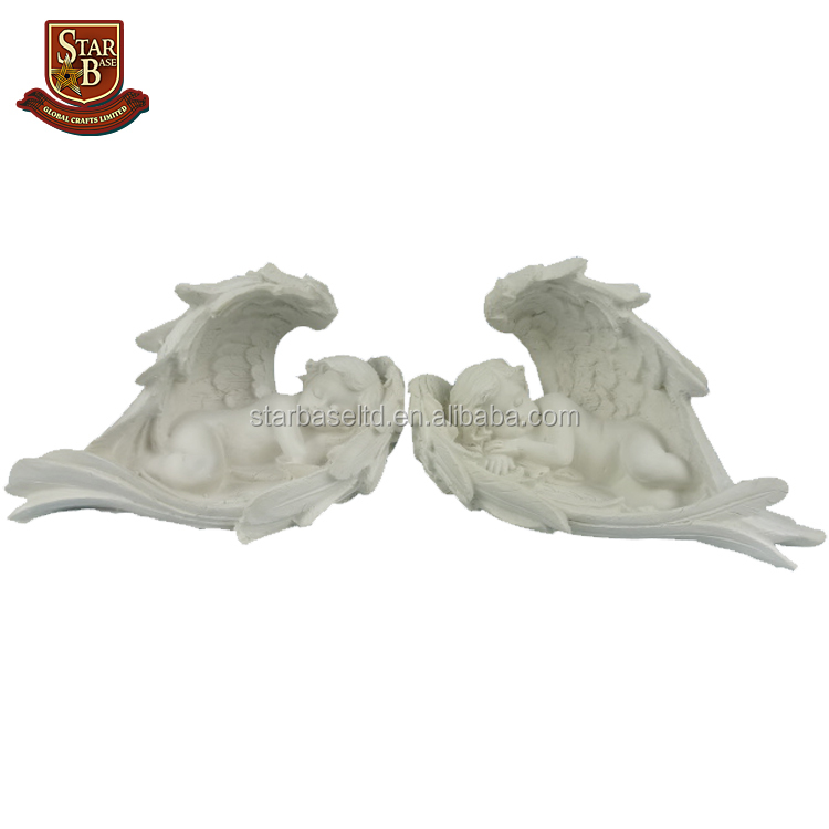 Factory custom made creative home decoration resin handicraft lovely little angel models