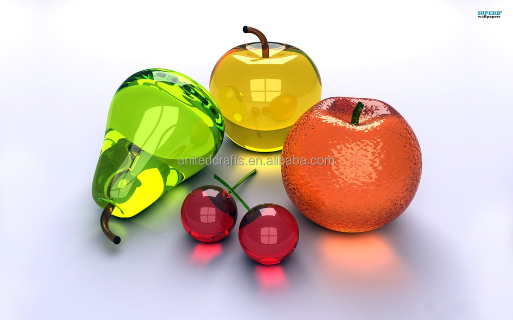 Lovely Antique Artificial Glass Fruit And Vegetables Ornaments