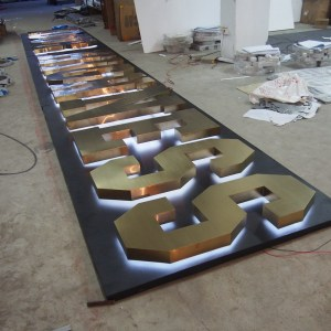 High quality heavy duty type backlit signs supplier sign board design bar sign