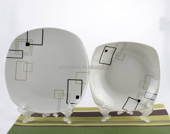 wholesale white custom printed ceramic dinner plate porcelain square plates & Wholesale White Custom Printed Ceramic Dinner Plate Porcelain Square ...