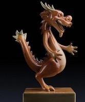 bronze dragon art sculpture