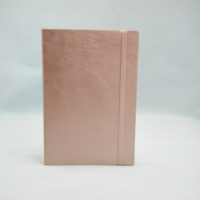 A5 custom soft planner gold rose leather journal with lined paper