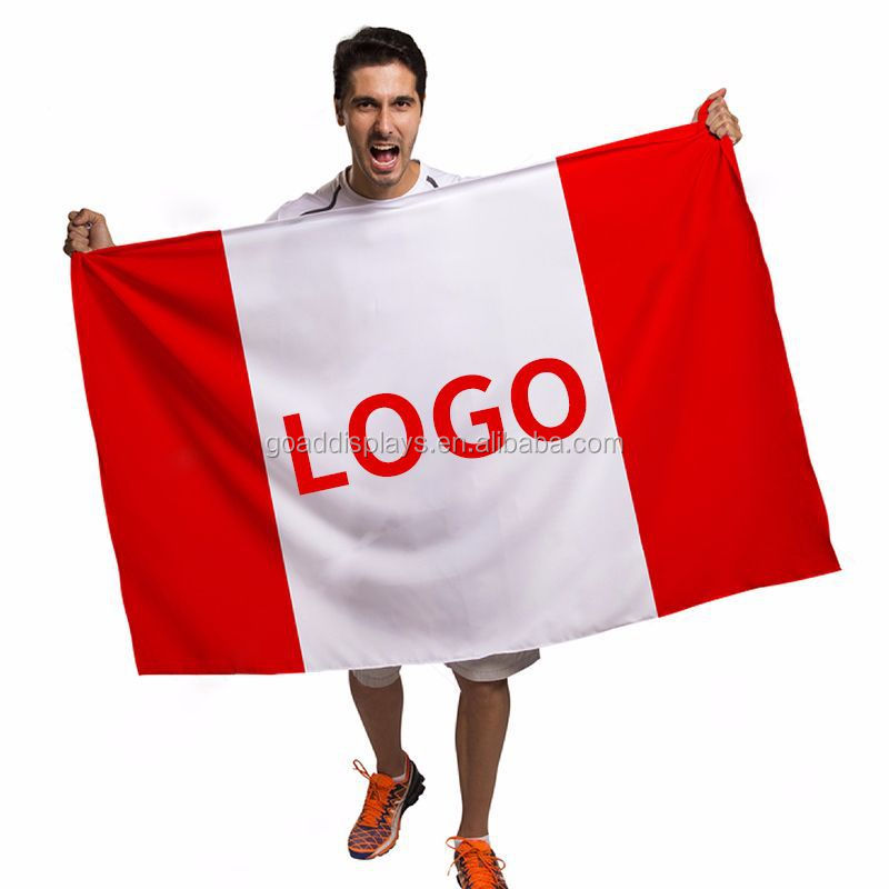 Factory price customized logo polyester flag with logo