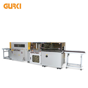 Gurki GPL-5545H+GPS-5030LW China Automatic Film Shrink Wrapping Packaging Machine