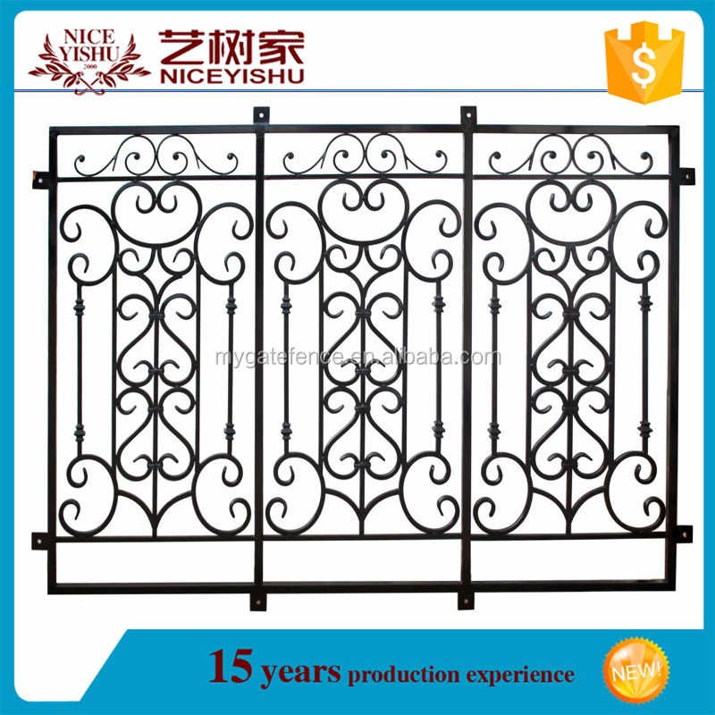 Yishujia Factory Antique Wrought Iron Window Guard Grills
