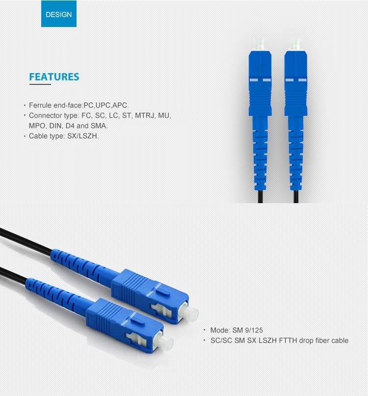 SC/UPC SC/APC Jumper FTTH Outdoor Drop Patch Cord2