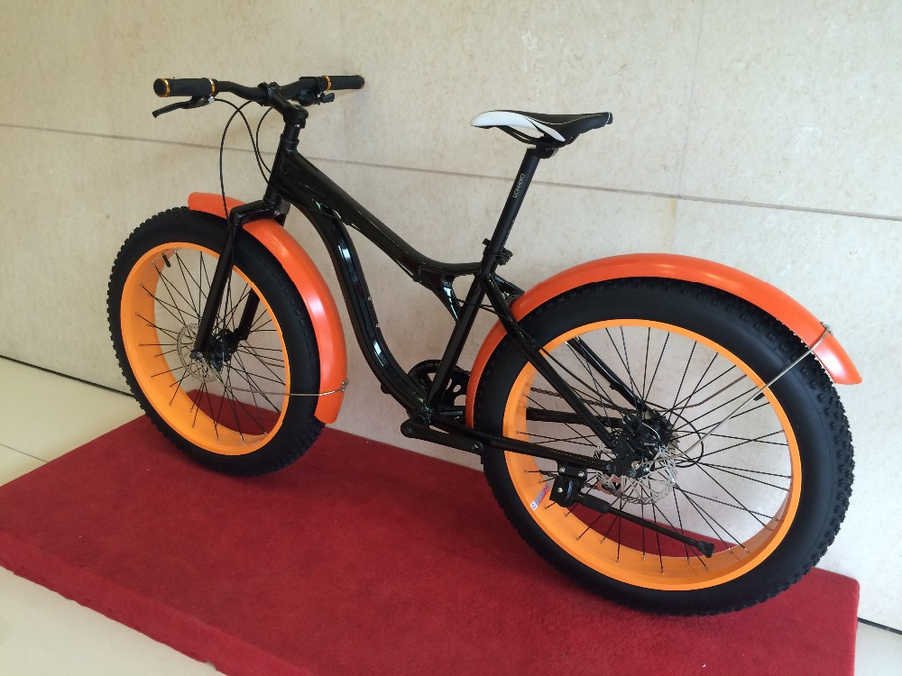 Orange Aluminum Alloy Frame Beach Cruiser Fat Bike Buy Fatbike