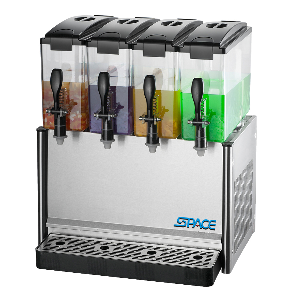 4 Tanks Cooling and Mixing Beverage Juice Dispenser Machine