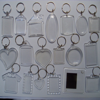 wholesale cheap plastic clear acrylic keychains blank acrylic photo keychains