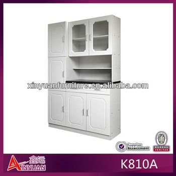 Modern portable free standing red oak kitchen cabinets for Modern free standing kitchen units