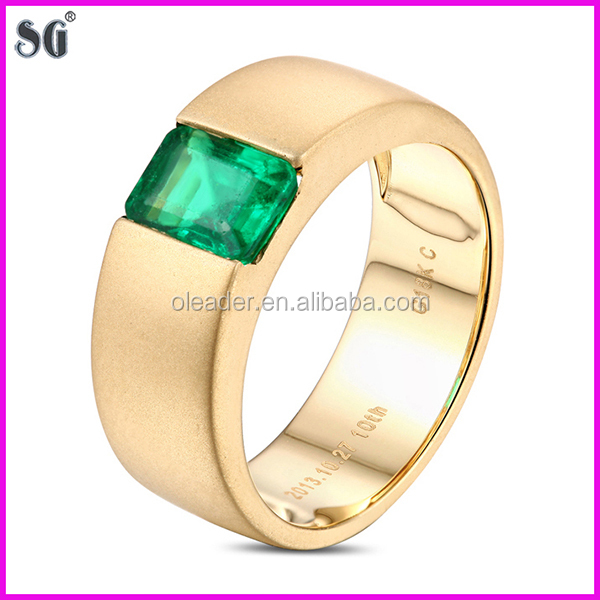 Chinese Manufacturers Single Stone Metal Plated 18k Simple Gold
