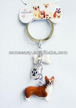 Met Voorraad Geschenken 3d Metalen Sleutelhanger Haak Hond