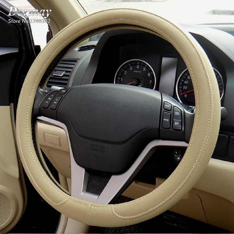 Free shipping 1pcs Black Gray Beige PU Micro fiber Car Steering Wheel Cover 0907 for KIA