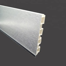 100mm aluminum foil brushed pvc kitchen cabinet plinth