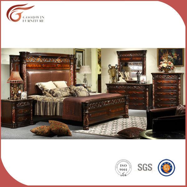 Alibaba Antique Solid Wood King Size Bedroom Set Wa135 Buy Classic Bedroom Set King Size Canopy Bedroom Sets Full Solid Wooden Bedroom Set Product On Alibaba Com
