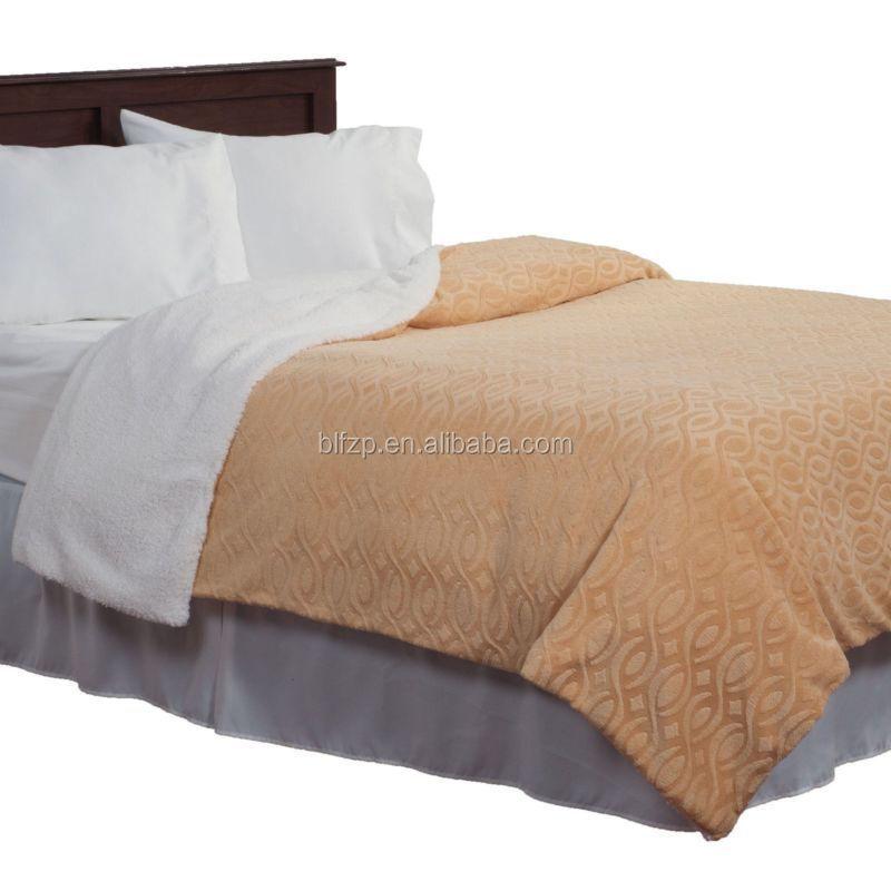 Fluffy Plain Brushed Plushed Fleece Blanket Double Bed Sheet Buy