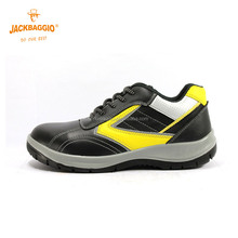 2018 China action smooth leather sport type safety shoes light weight with lace