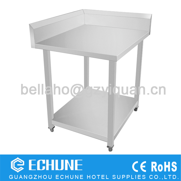 Restaurant Assemble Stainless Steel Corner Work Table With