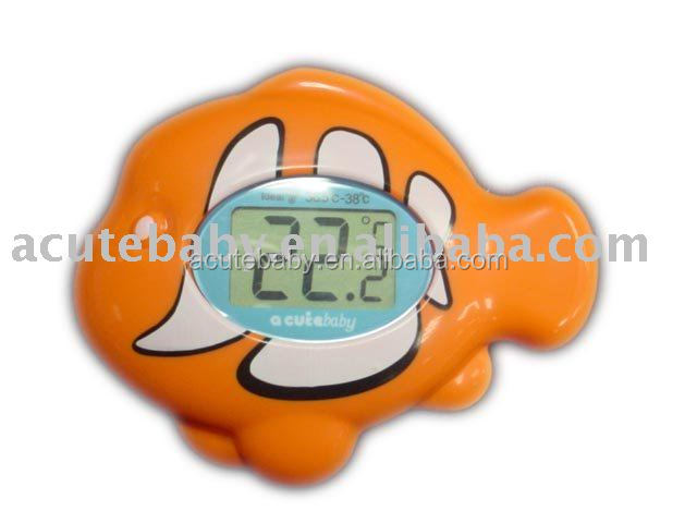 Hot selling cutest fish shape bath digital water thermometer
