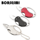 New creative Mini portable stainless steel folding knife multi purpose carabiner Multifunction quickdraw pocket keychain knives