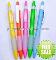 SGS Eco-friendly plastic ballpoint pen for promotion,offer different color with custom logo