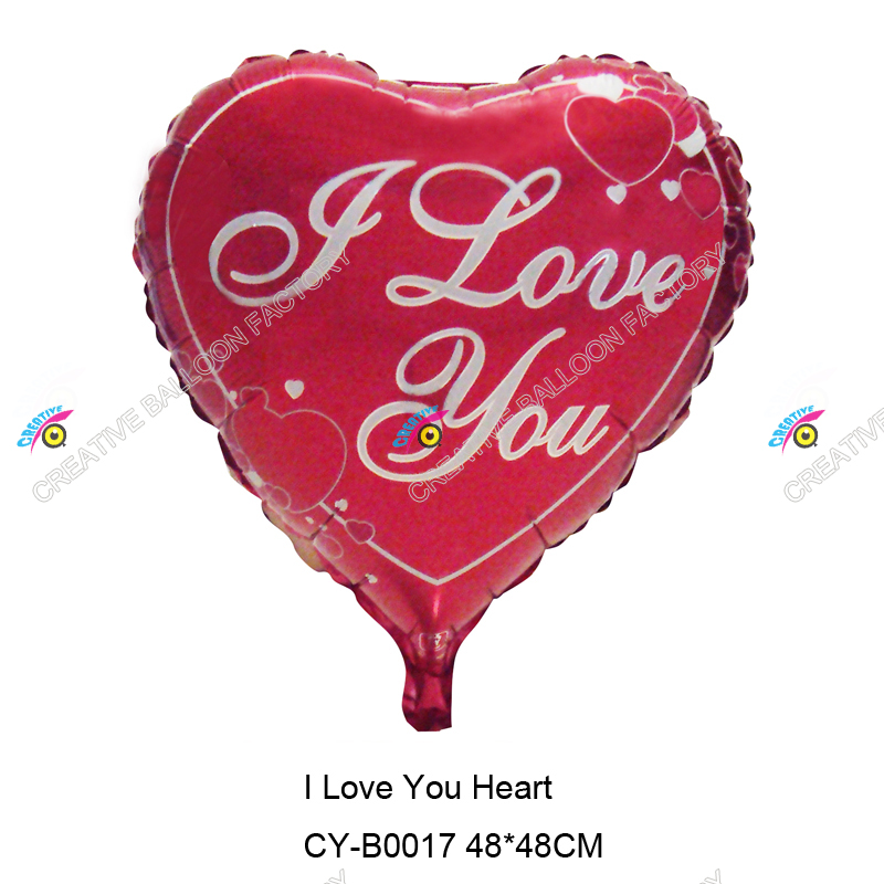 2015 18'' heart shape I Love You foil balloon best decoeation for valentine's day