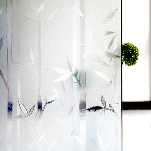 PVC Static Cling Window Film Glass Sticker Embossed Decorative Film