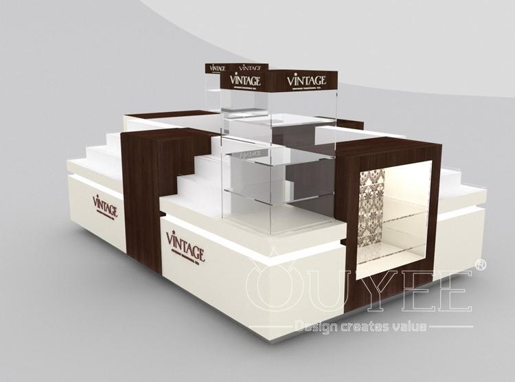 Wooden stand food kiosk 3d design food kiosk indoor sweet for Indoor food kiosk design