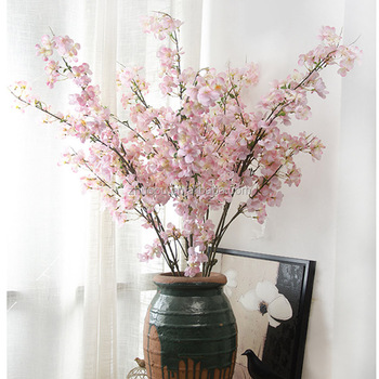 Zero Handmade Artificial Flowers Long Stem Silk Wedding White Pear