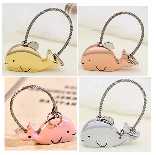Promotional Love Keychain For Wedding Souvenirs Gift Small Animal Fish Cartoon Shape Metal Custom Keychain
