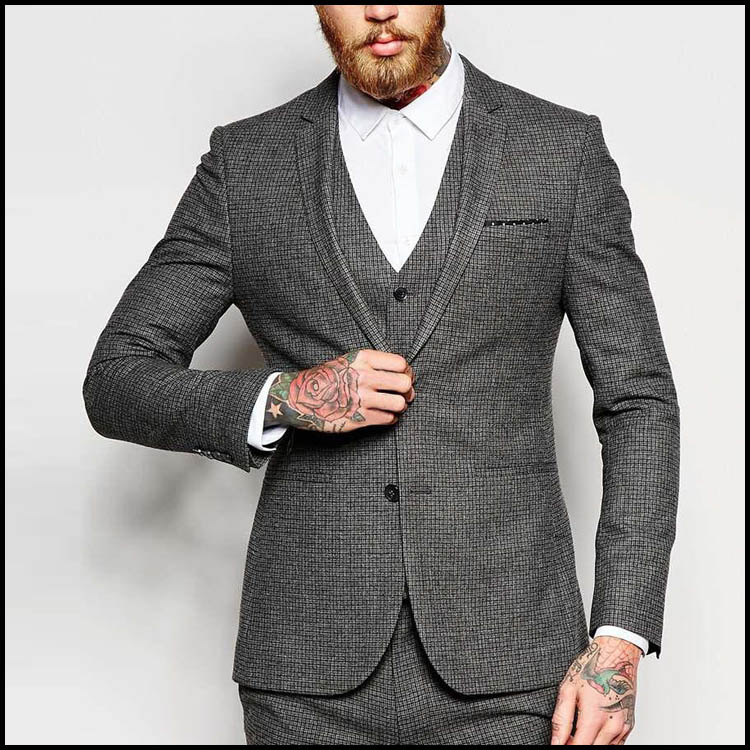 Fashion Formal Dress Top Designer Groom Coat 3 Piece Coat Pant Men Suit