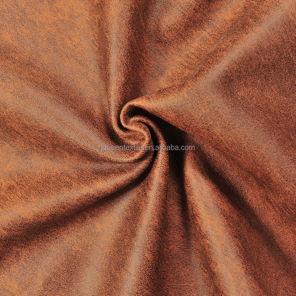 micro fiber bronze suede bonded with single fleece fabric for upholstery sofa cover