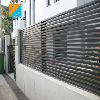 Aluminum Airfoil Louver Fence Privacy Screen Panels Slat