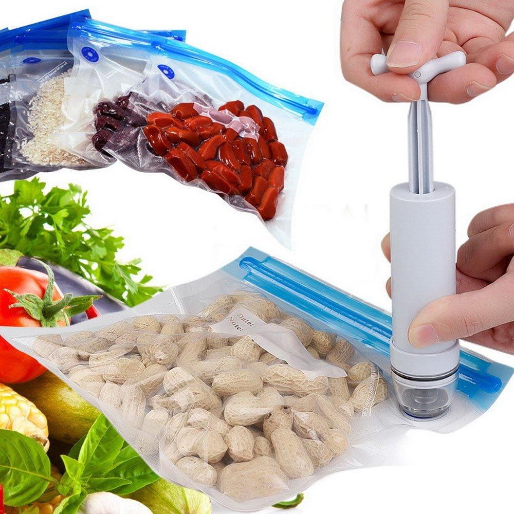 Manual vacuum sealer 5-piece vacuum bag hand pump handheld food vacuum sealer 5 size vacuum compression bags