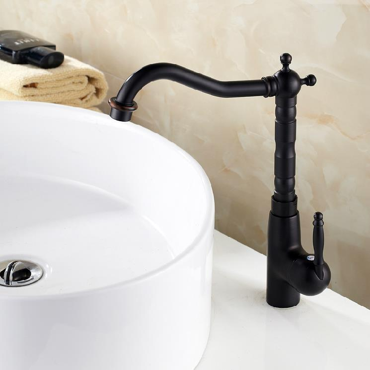 free shipping wholesale and retail retro black bathroom faucet single handle deck mounted. Black Bedroom Furniture Sets. Home Design Ideas