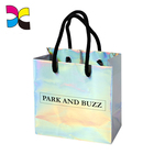 OEM customized promotional holographic foldable shopping paper bag