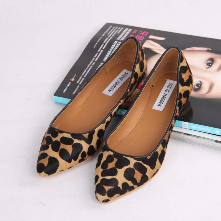 Ladies Animal Print Flat Shoes
