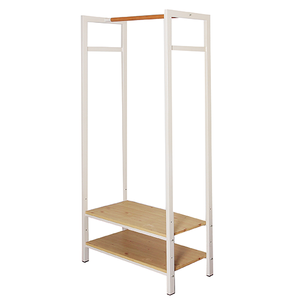 Wooden shelf / Wooden clothes hanger stand / Store display props