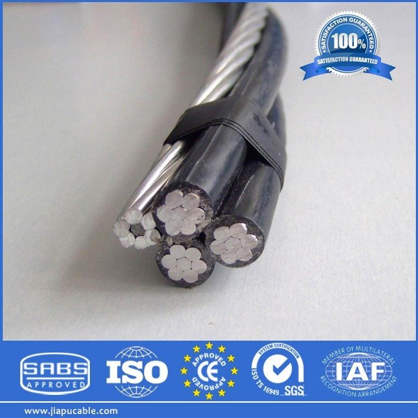 LV ABC cable/Aerial Bundle Conductor (Self Supporting and Supporting Core) aluminum cable 70mm2 Service Drop Quadruplex