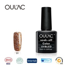2018 Oulac Marca OEM Private Label Soak Off 3 Passi Nail Acrilico <span class=keywords><strong>Gel</strong></span> Polish Con LED Che Cura <span class=keywords><strong>Luce</strong></span>