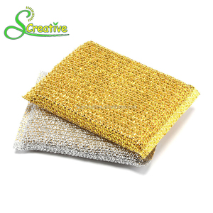 Cheap scrub cleaning foam eco-friendly polyester scouring sponge