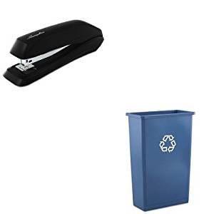 KITRCP354074BLUSWI54501 - Value Kit - Rubbermaid Slim Jim Recycling Container (RCP354074BLU) and Swingline Standard Strip Desk Stapler (SWI54501)