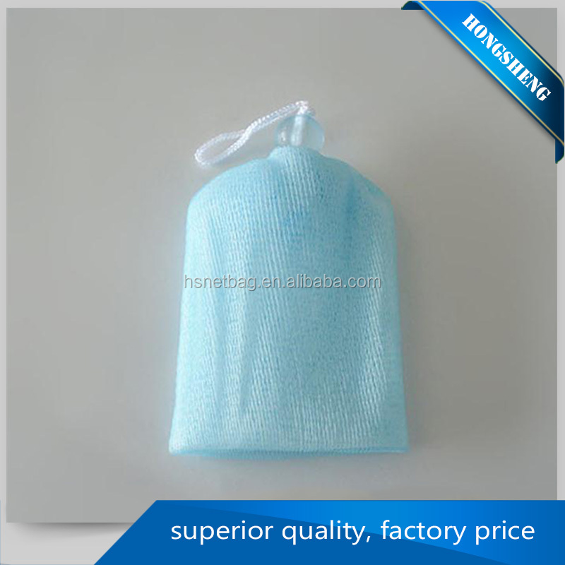 China supplier bath sponge with mesh soap saver lather net bag