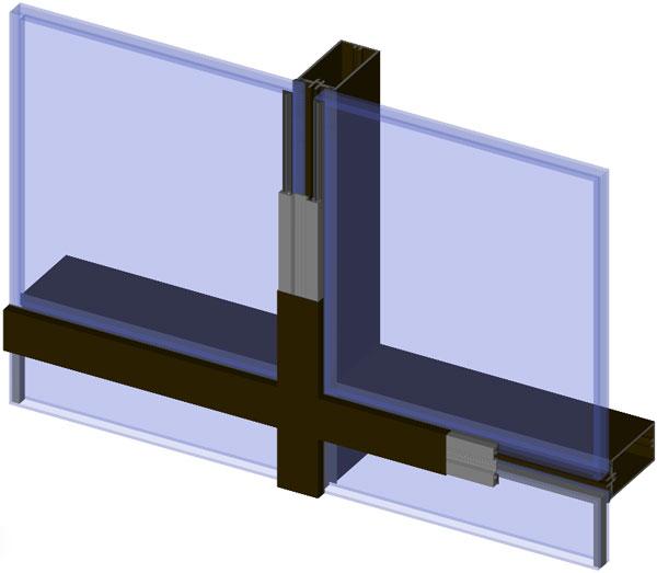 Aluminum Glass Wall : Frameless curtain wall cad details menzilperde