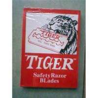 cheap value wholesale safety razor blades, Tiger stainless steel razor, best package and extreme sharpen