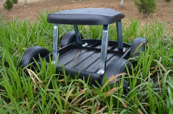 gro handel 4 wheel garten wagen arbeit sitz hocker roller. Black Bedroom Furniture Sets. Home Design Ideas