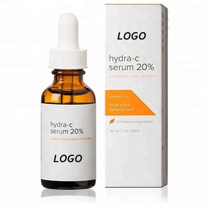 OEM Private Label Anti Aging Skin Brightening Vitamin C Serum 20% with Hyaluronic Acid