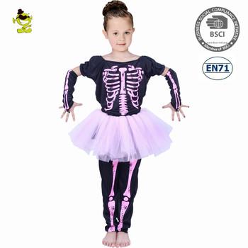Halloween Skeleton Costume Kids.2018 Halloween Kids Pink Skeleton Print Fancy Dress Carnival Party Costume Girls Buy Skeleton Girls Costume Kids Party Costume Girls Fancy Dress