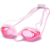 One piece silicone racing best anti fog swimming goggles