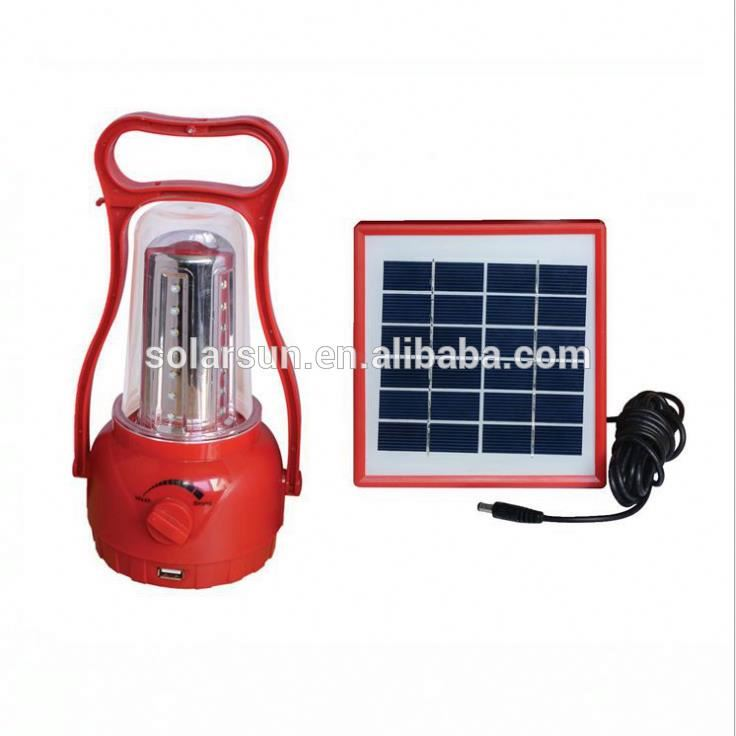 Camping Solar Lantern with Mobile Phone Charger, Solar Emergency Lantern with Solar Panel